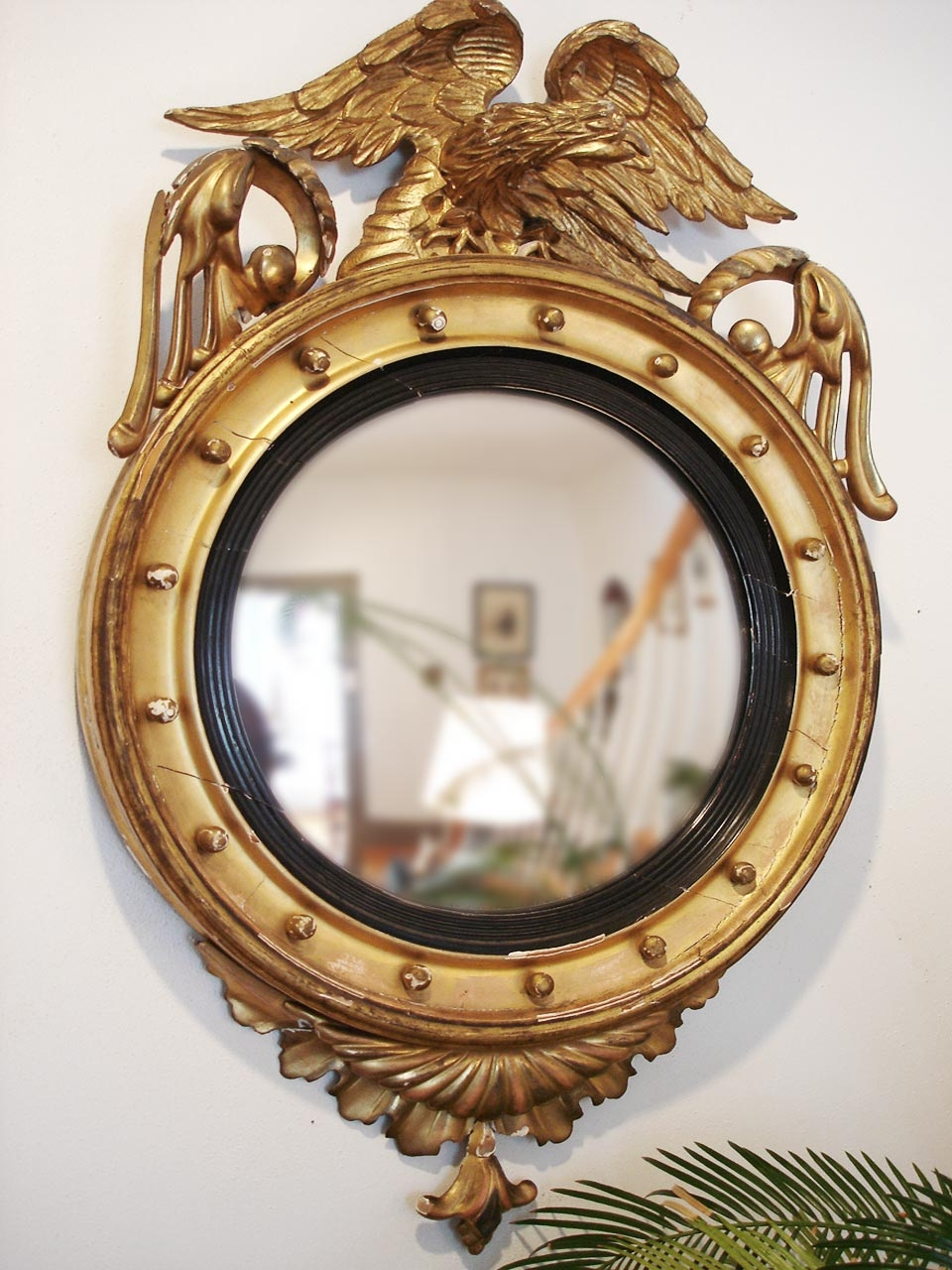 Eagle Federal Convex Mirror Spray Paint Black Or Different Color Throughout Antique Convex Mirrors For Sale (Image 8 of 15)