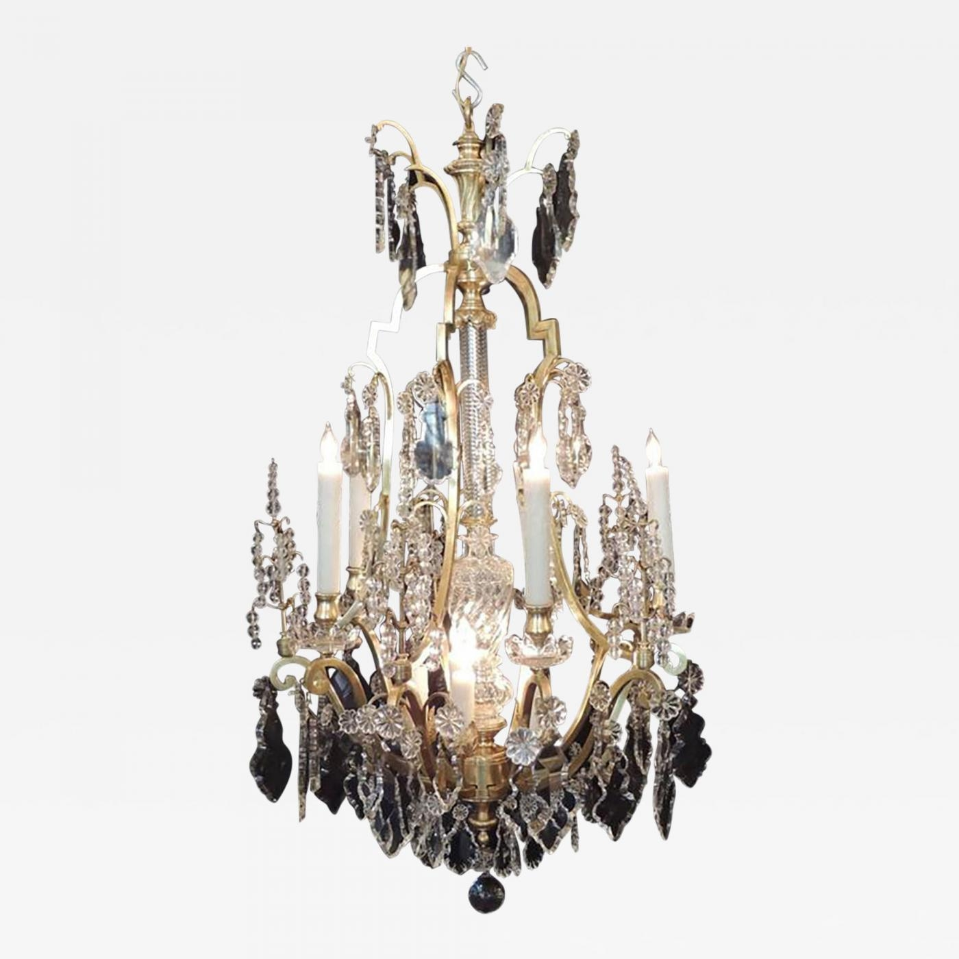Early 20th C French Bronze Dor And Lead Crystal Chandelier Throughout Lead Crystal Chandelier (Image 13 of 15)