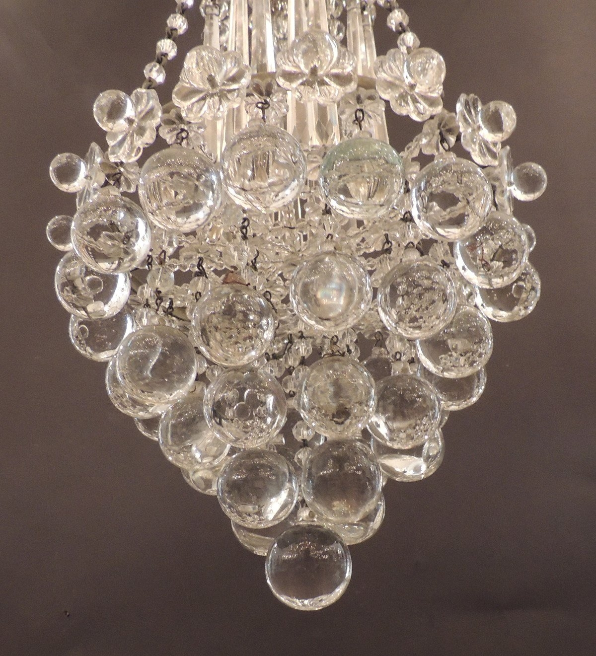 Early 20th C Venetian Waterfall Crystal Chandelier At 1stdibs In Waterfall Crystal Chandelier (Image 7 of 15)