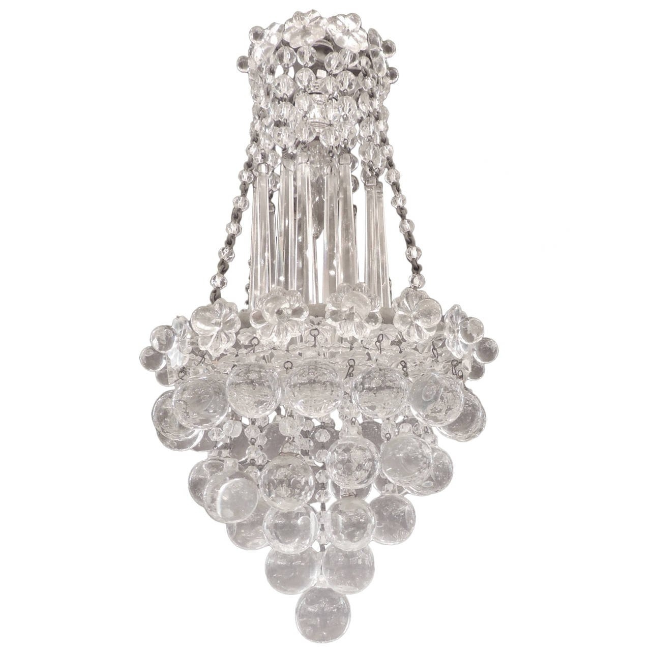 Early 20th C Venetian Waterfall Crystal Chandelier At 1stdibs In Waterfall Crystal Chandelier (Image 6 of 15)
