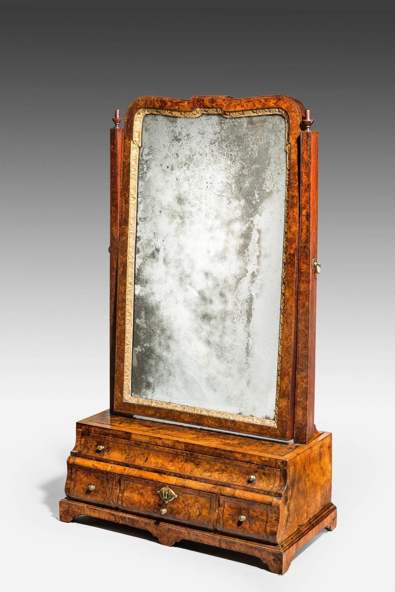 Early George I Walnut Dressing Table Mirror For Sale At 1stdibs Throughout Dressing Mirror (Image 10 of 15)