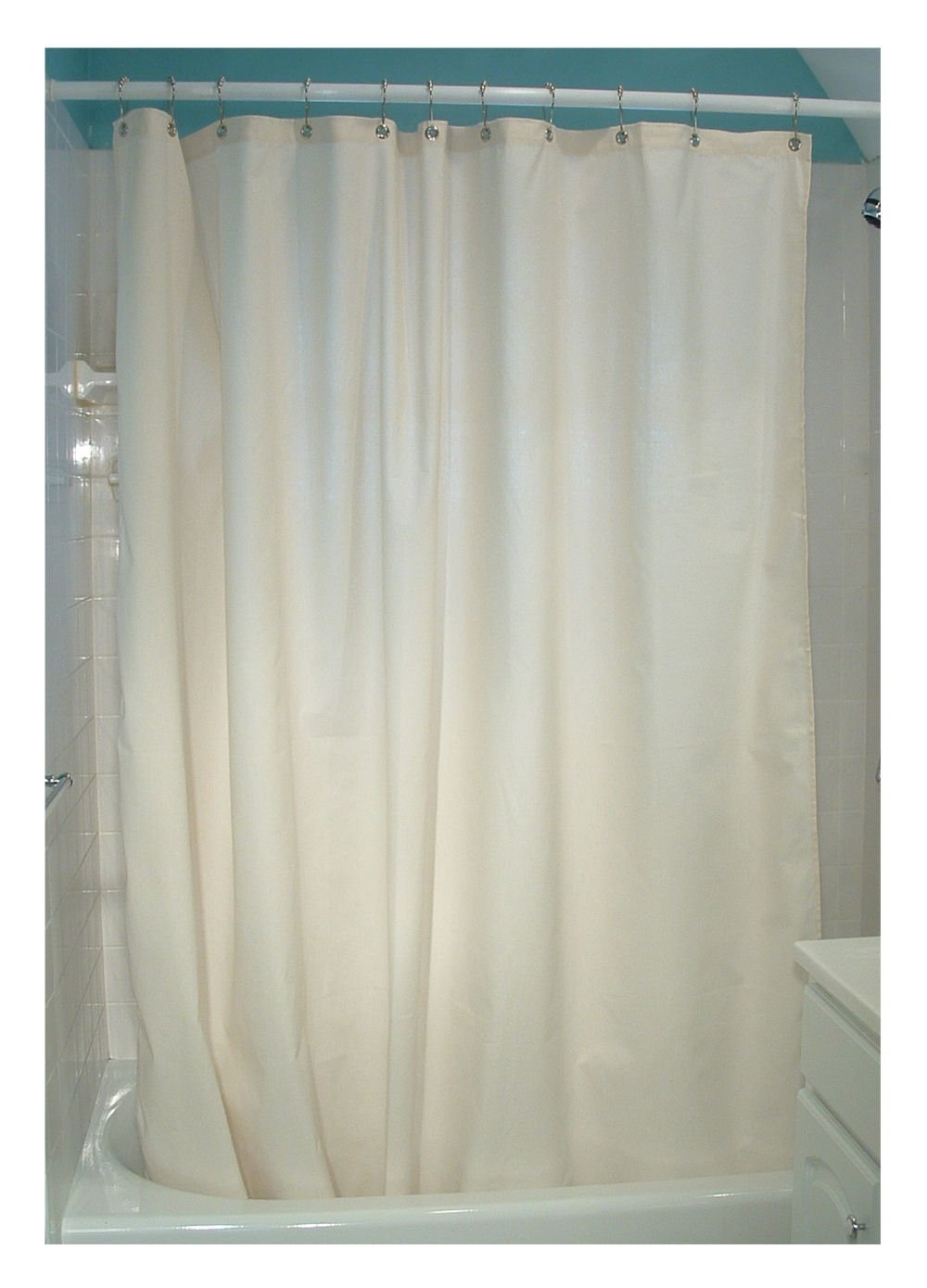 Earth Friendly Shower Curtains Organic Cotton Shower Curtains For Natural Fiber Curtains (Image 8 of 15)