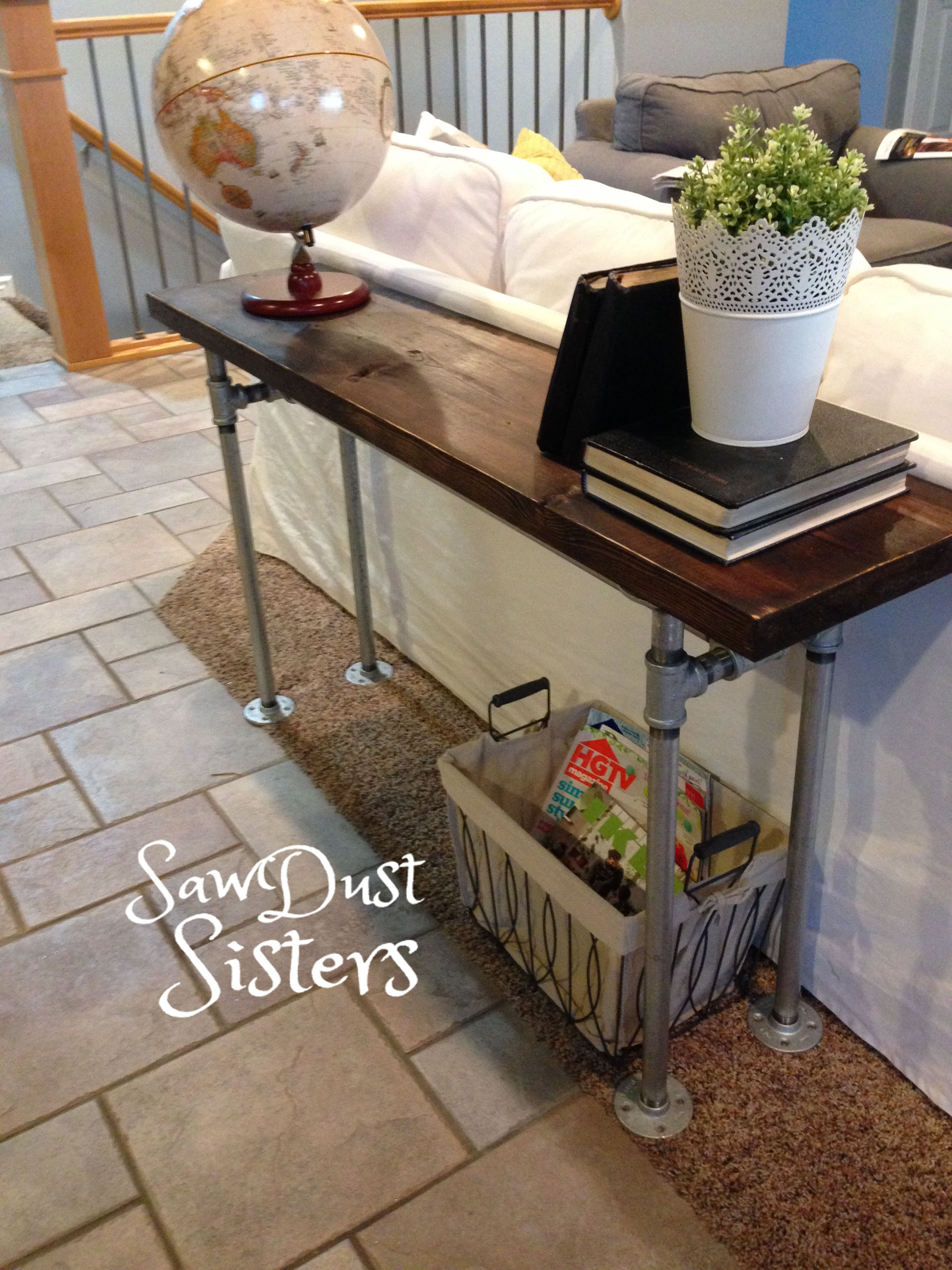Easy Diy Sofa Table With Pipe Frame Diy Table Pipes And Diy And Regarding Diy Sofa Frame (Image 9 of 15)
