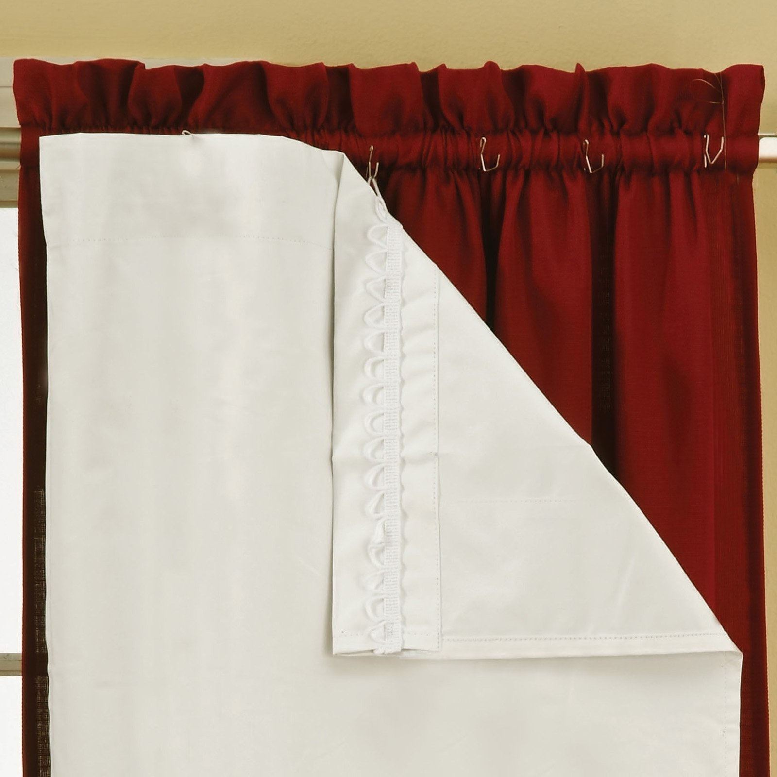 Eclipse Blackout Thermaliner Curtain Panels Set Of 2 Walmart Regarding Curtains With Blackout Lining (Image 4 of 15)