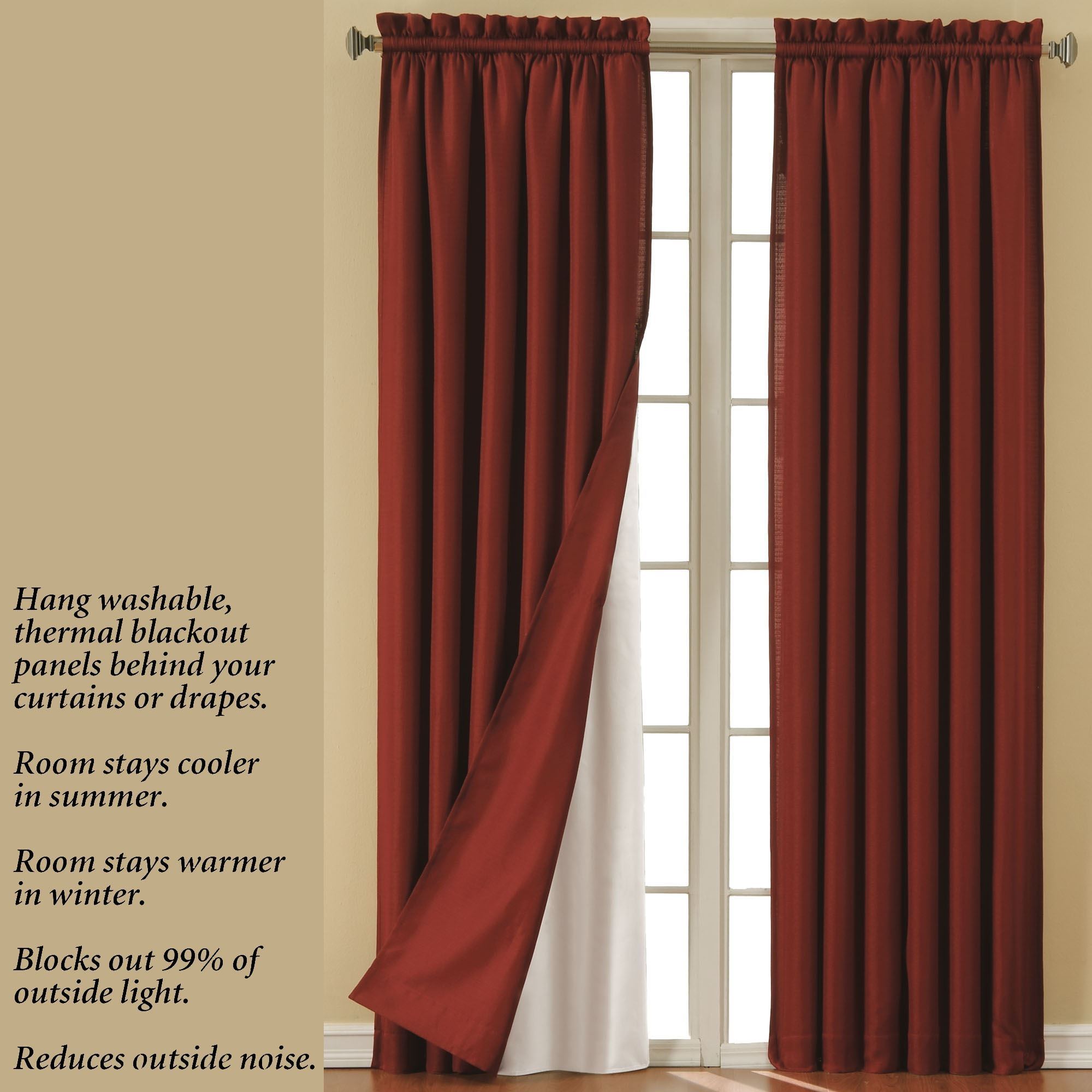 Eclipsetm Thermaliner Blackout Curtain Panel Liners In Thermal And Blackout Curtains (Image 11 of 15)