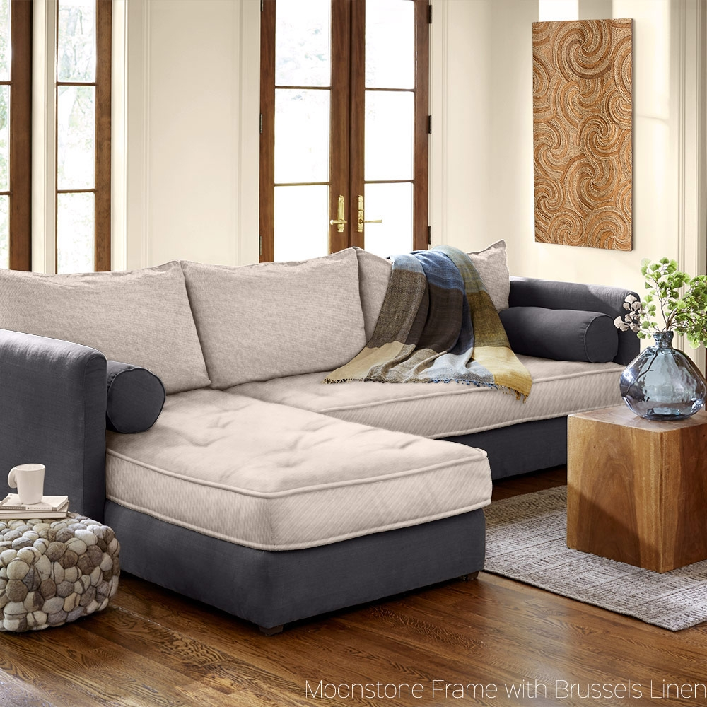 Eco Friendly Linen Couches Sofas Sectionals Vivaterra With Eco Friendly Sectional Sofa (Image 10 of 15)