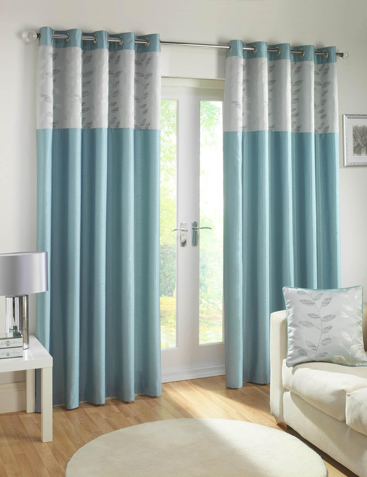 Eden Ready Made Eyelet Curtains Duckegg Free Uk Delivery Intended For Duck Egg Blue Blackout Curtains (View 6 of 15)