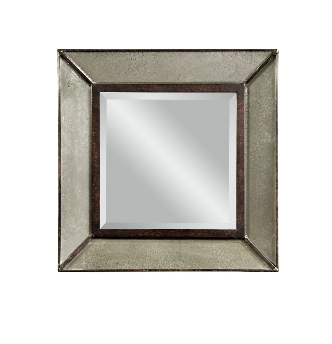 Edinborough Wall Mirror Antique Mirror Finish M3301bec Regarding Antiqued Wall Mirror (Image 6 of 15)
