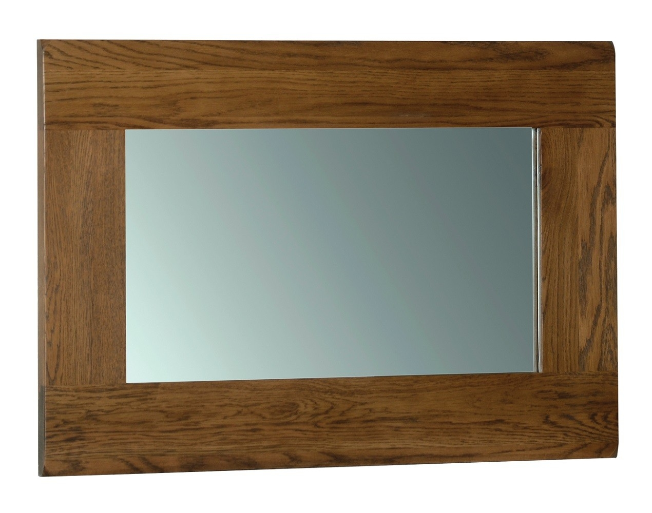 Edinburgh Rustic Oak 90 X 60cm Mirror Oak Furniture Uk With Regard To Rustic Oak Mirror (Image 1 of 15)