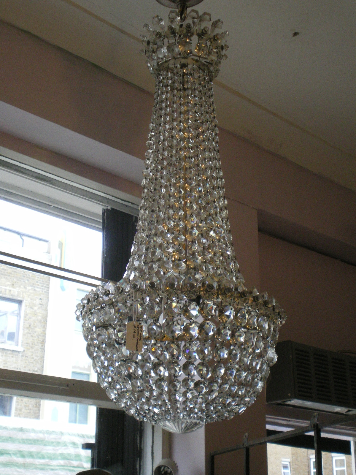 Edwardian Crystal Chandelier Possibly Waterford Youngandson Pertaining To Edwardian Chandeliers (Image 4 of 15)