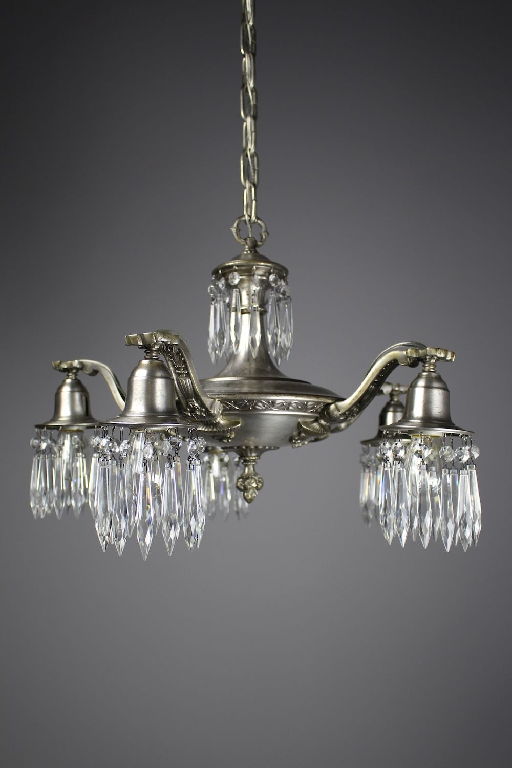 Edwardian Crystal Swag Chandelier 5 Light Regarding Edwardian Chandeliers (Image 5 of 15)