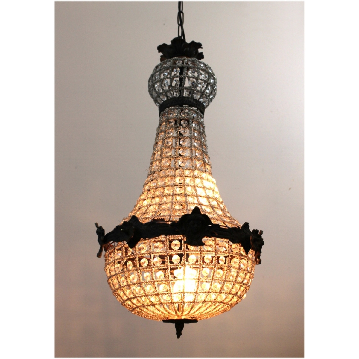 Egyptian Crystal Antique Style Chandelier W Victorian Faces Aged Regarding Egyptian Chandelier (View 4 of 15)