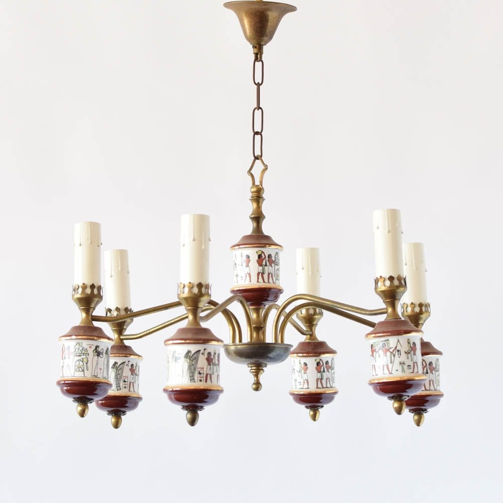 Egyptian Motif Chandelier The Big Chandelier With Egyptian Chandelier (Image 9 of 15)