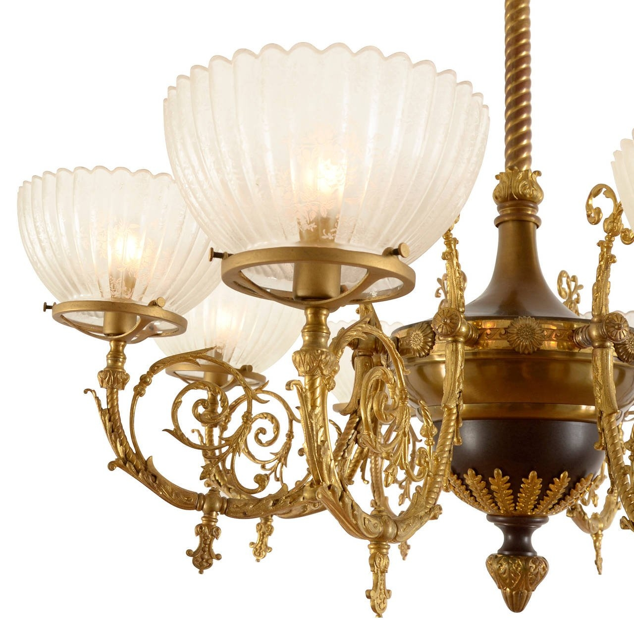 Eight Light Beaux Arts Chandelier With Ornate Ormolu Circa 1895 Intended For Ornate Chandeliers (Image 8 of 15)