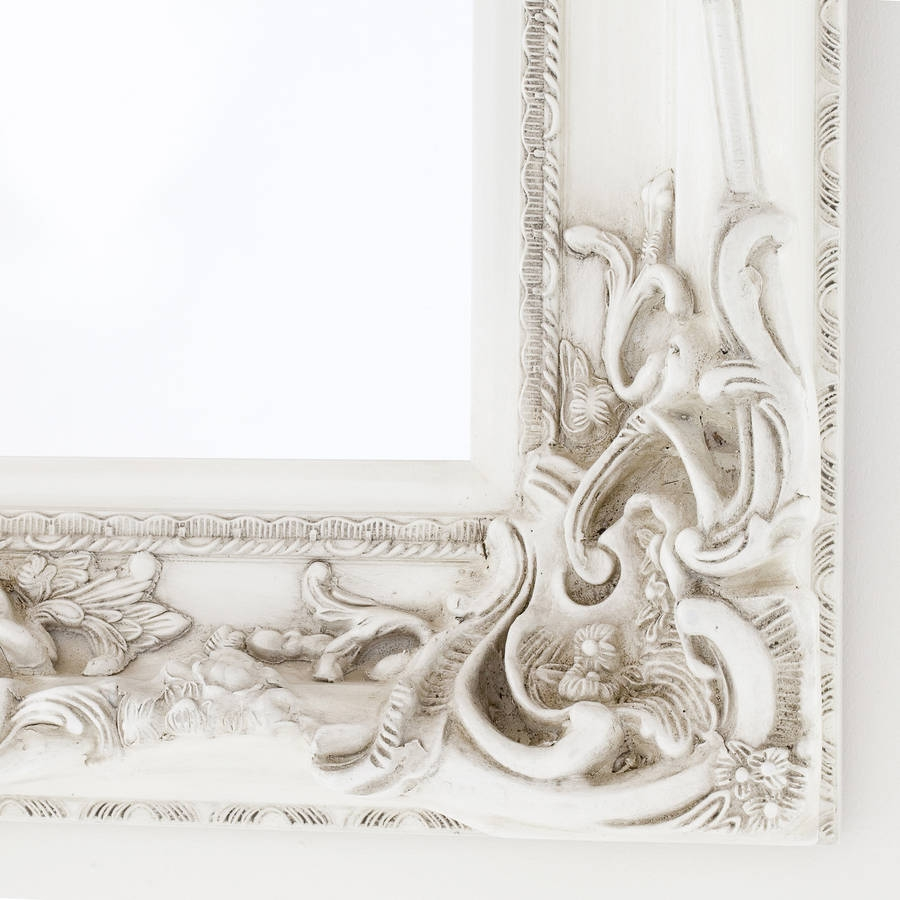Elaborate Ivory Mirror Decorative Mirrors Online Intended For Elaborate Mirrors (Image 7 of 15)
