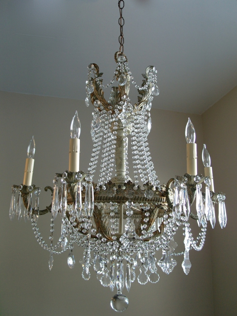 Elegant Country Chic Chandelier 15 With Additional Small Home Throughout Small Shabby Chic Chandelier (Image 5 of 15)
