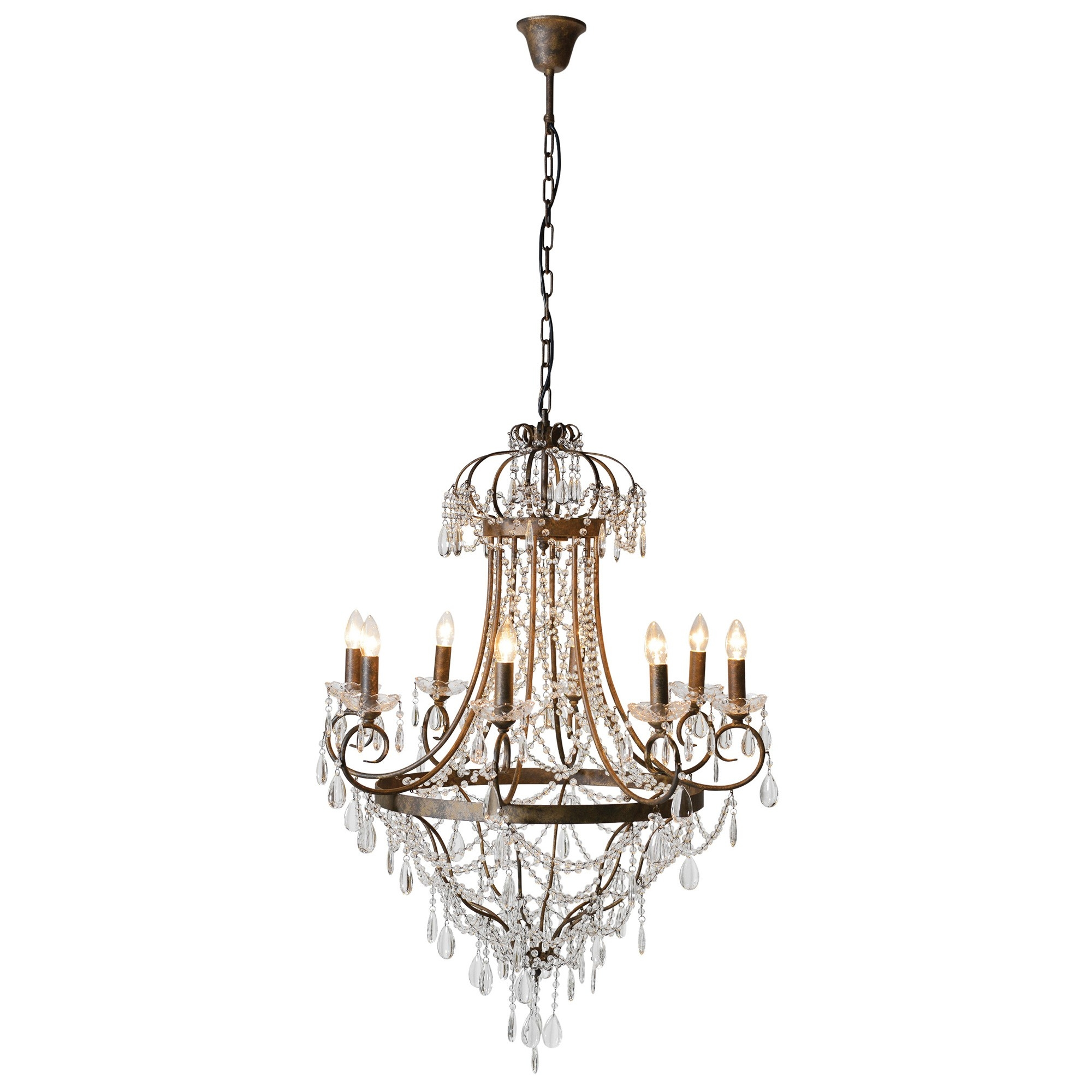 Elegant Glass Droplet Chandelier Chandeliers Lighting Shop Intended For Glass Droplet Chandelier (Image 7 of 15)