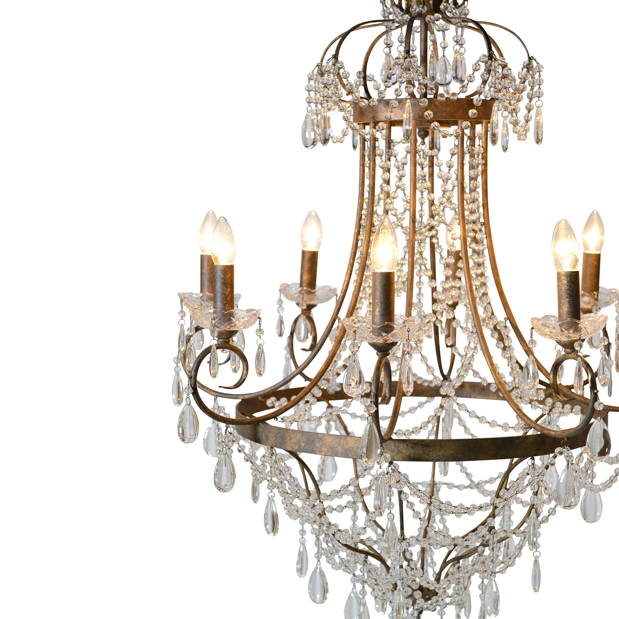 Elegant Glass Droplet Chandelier Chandeliers Lighting Shop Regarding Glass Droplet Chandelier (Image 8 of 15)