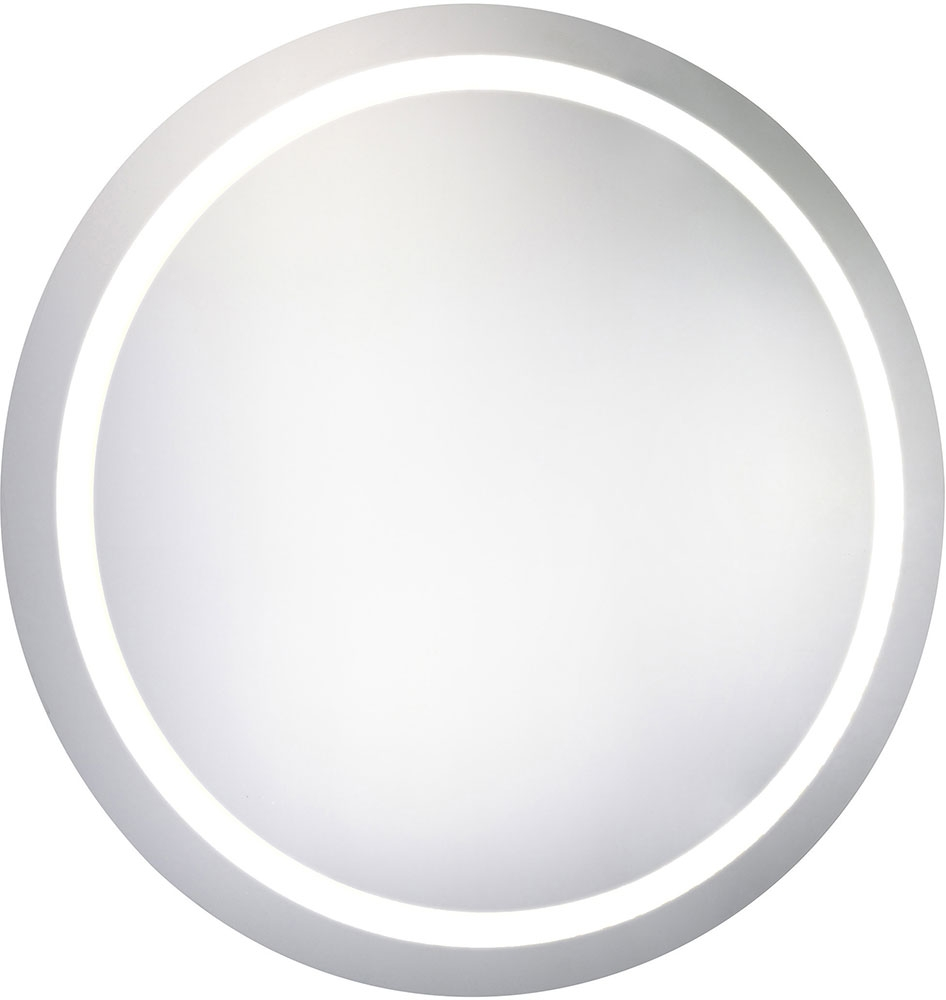 Elegant Lighting Mre 6005 Element Modern Glossy White Led 30 Throughout White Round Mirror (Image 5 of 15)