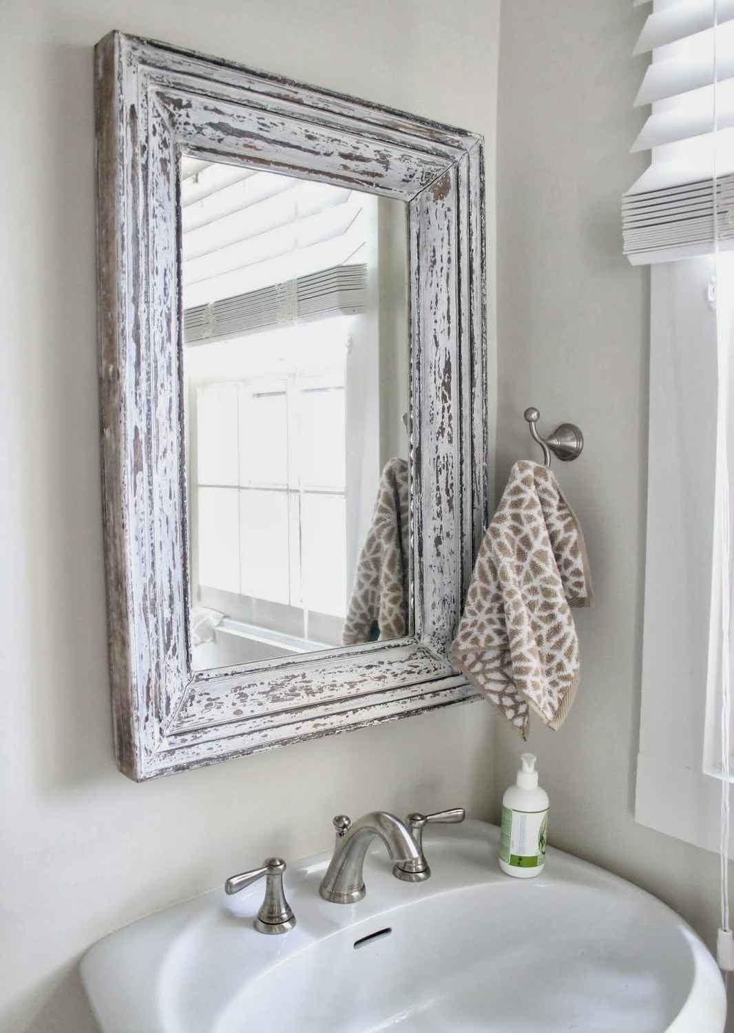 Elegant Shab Chic Bathroom Mirrors 17 With Shab Chic Bathroom Regarding Shabby Chic Bathroom Mirrors (Image 3 of 15)
