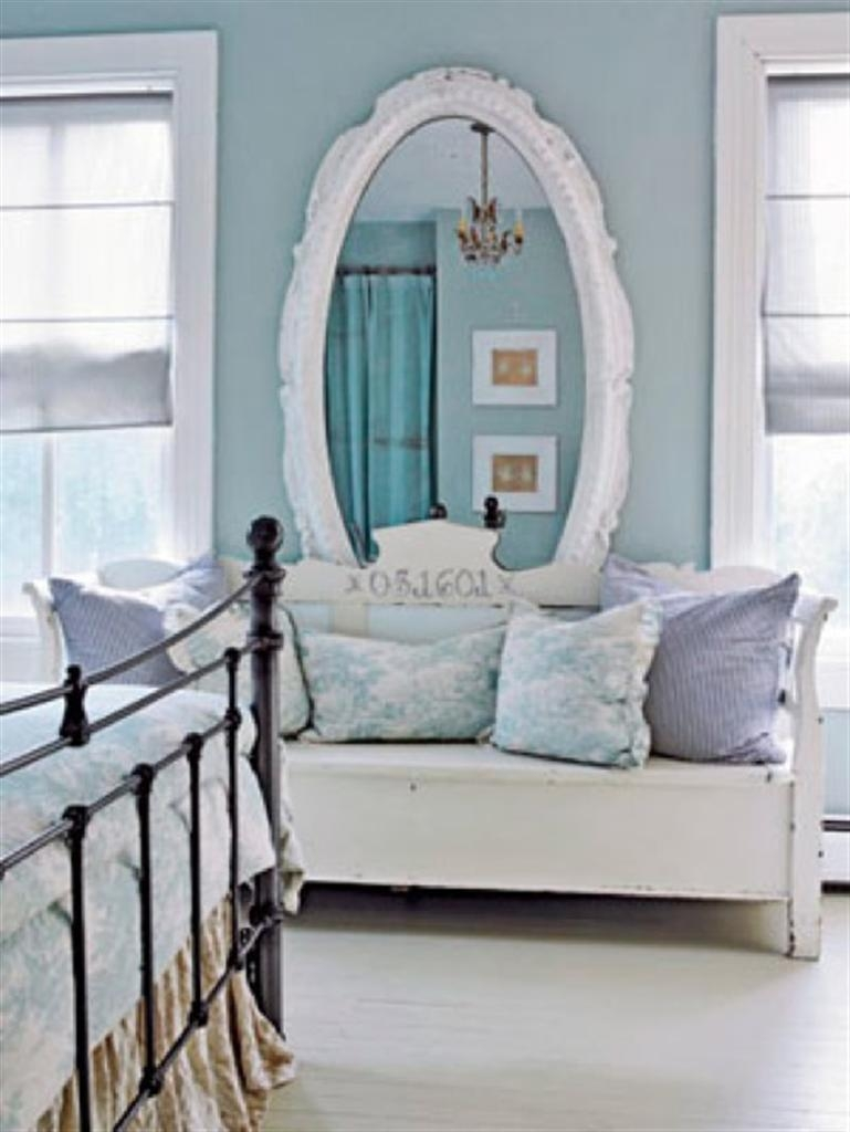 Elegant White Large Oval Mirror Love Seat Country Living 10 With Big White Mirrors (Image 4 of 15)