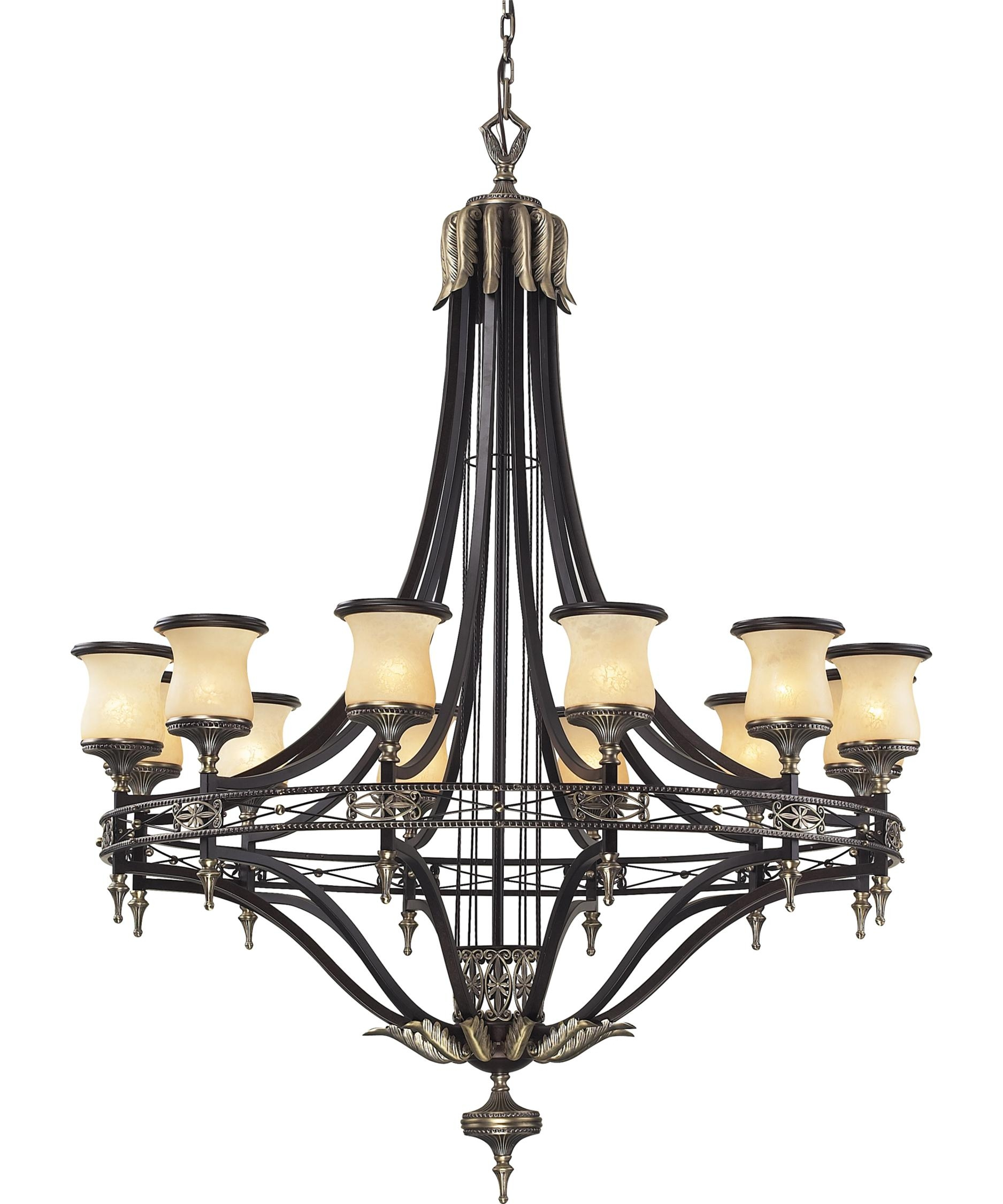 Elk Lighting 2434 12 Georgian Court 48 Inch Wide 12 Light Intended For Georgian Chandelier (Image 6 of 15)