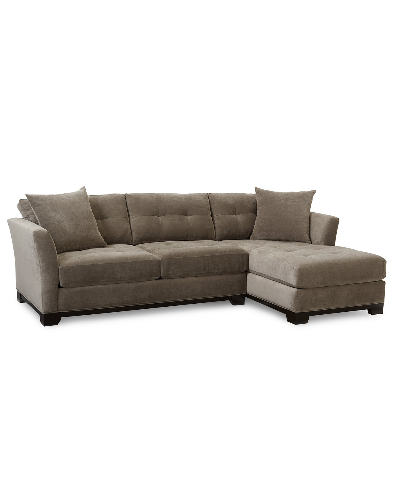 Elliot Fabric Microfiber 2 Pc Chaise Sectional Sofa Sectional Pertaining To Elliott Sofa (Image 8 of 15)