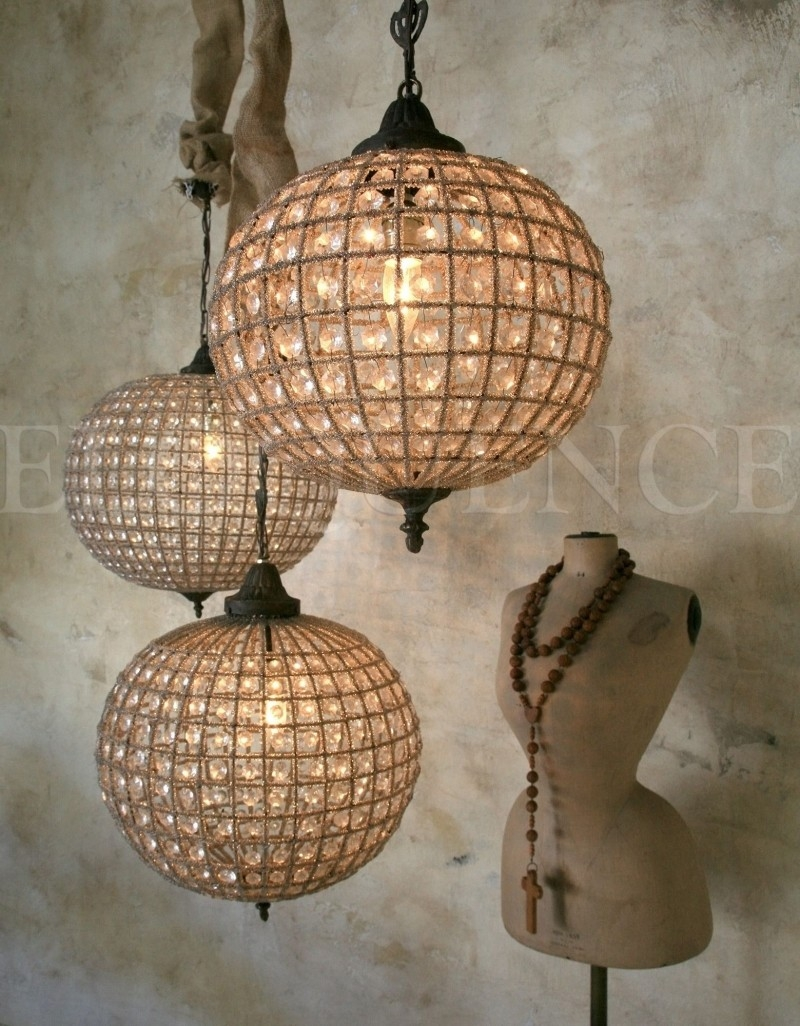 Featured Image of Large Globe Chandelier