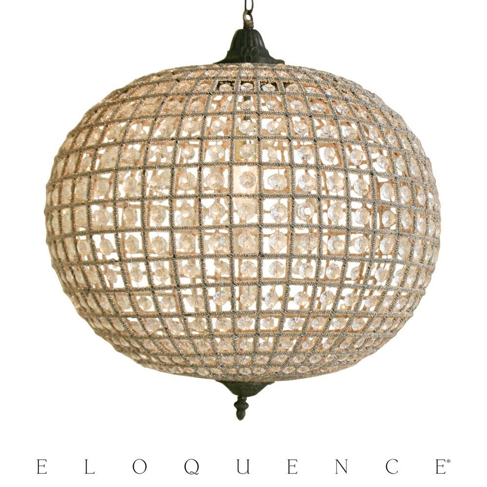 Eloquence Large Globe Chandelier Kathy Kuo Regarding Large Globe Chandelier (Image 6 of 15)