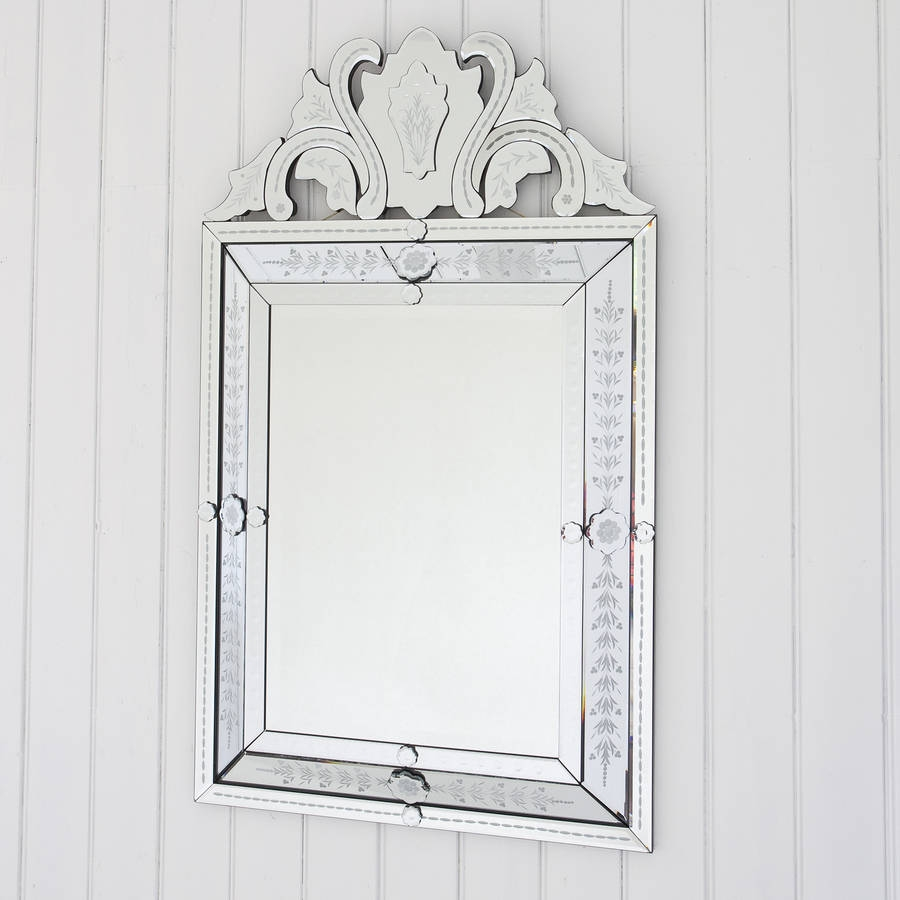 Embellished Venetian Style Mirror Decorative Mirrors Online With Embellished Mirrors (Image 8 of 15)