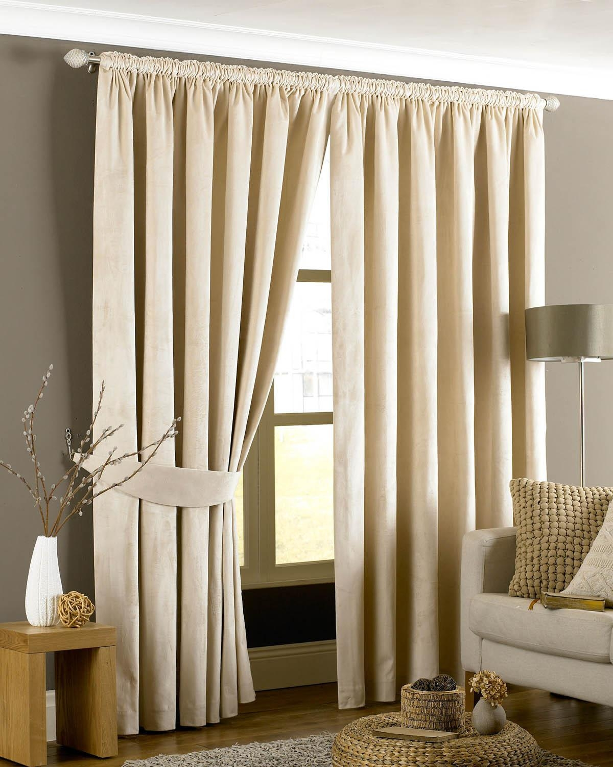 Emperor Eyelet Lined Curtains Cream Free Uk Delivery Terrys With Cream Lined Curtains (Image 5 of 15)