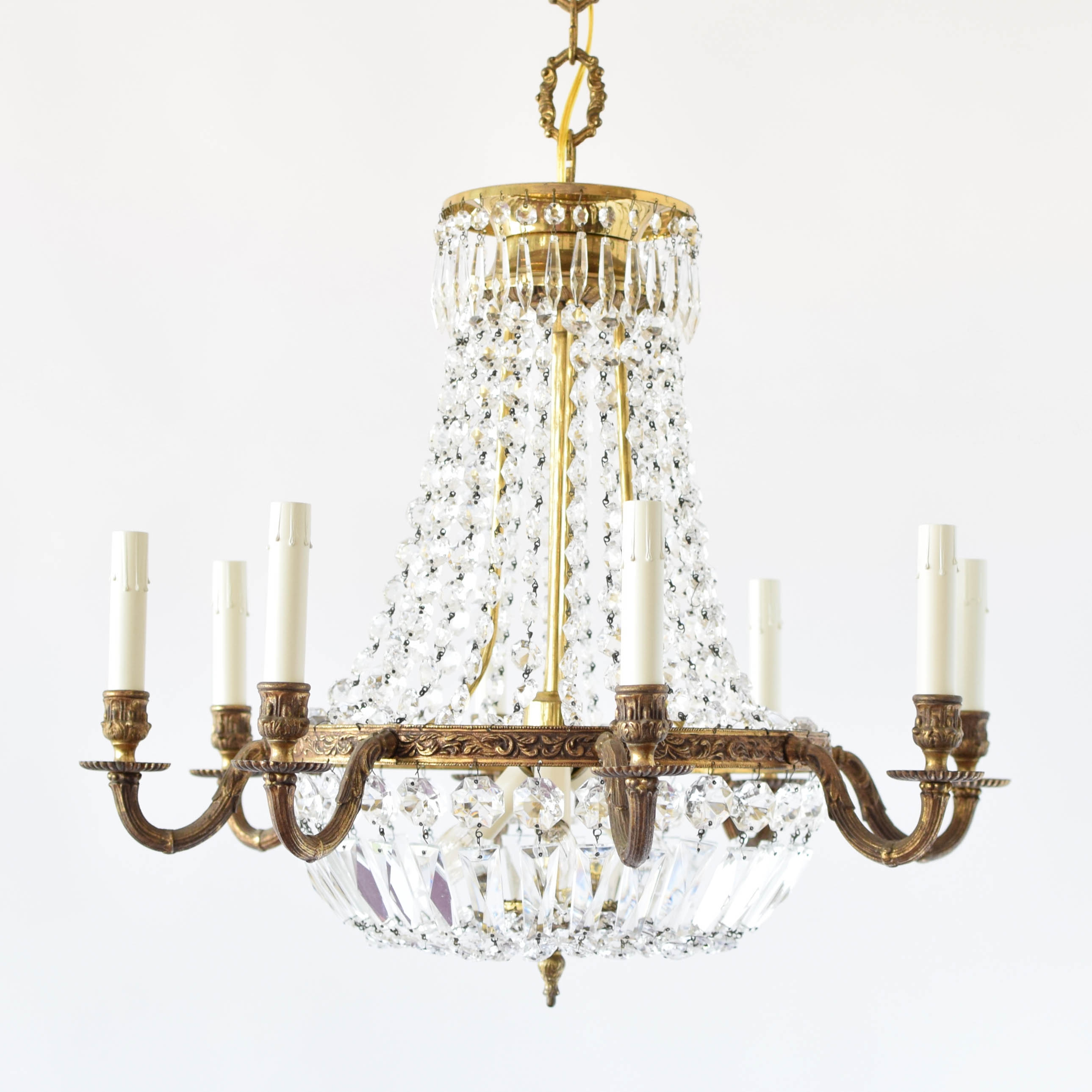 Empire Style Crystal Chandelier The Big Chandelier With Vintage Style Chandelier (Image 9 of 15)