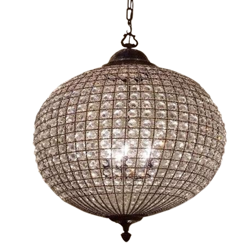 Enchanting Large Round Crystal Chandelier 53 Large Round Crystal Throughout Globe Crystal Chandelier (View 7 of 15)