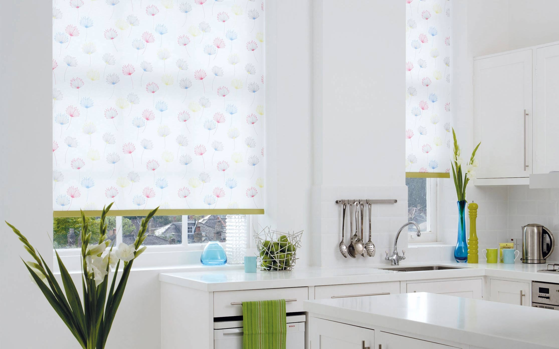 Engaging Kitchen Roller Blinds Pattern Roller Blind Kitchen Regarding Pattern Roller Blinds (Image 6 of 15)