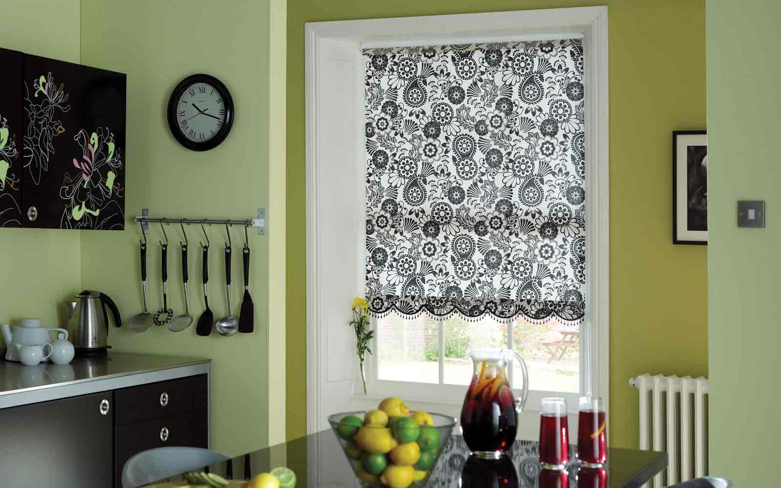 Engaging Kitchen Roller Blinds Pattern Roller Blind Kitchen With Pattern Roller Blinds (Image 7 of 15)