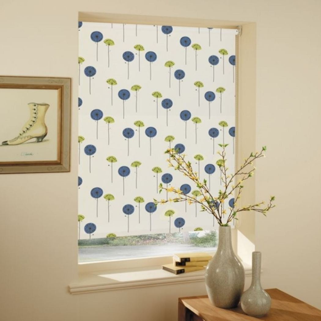 Engaging Kitchen Roller Blinds Pattern Roller Blind Kitchen With Regard To Patterned Roller Blind (Image 5 of 15)