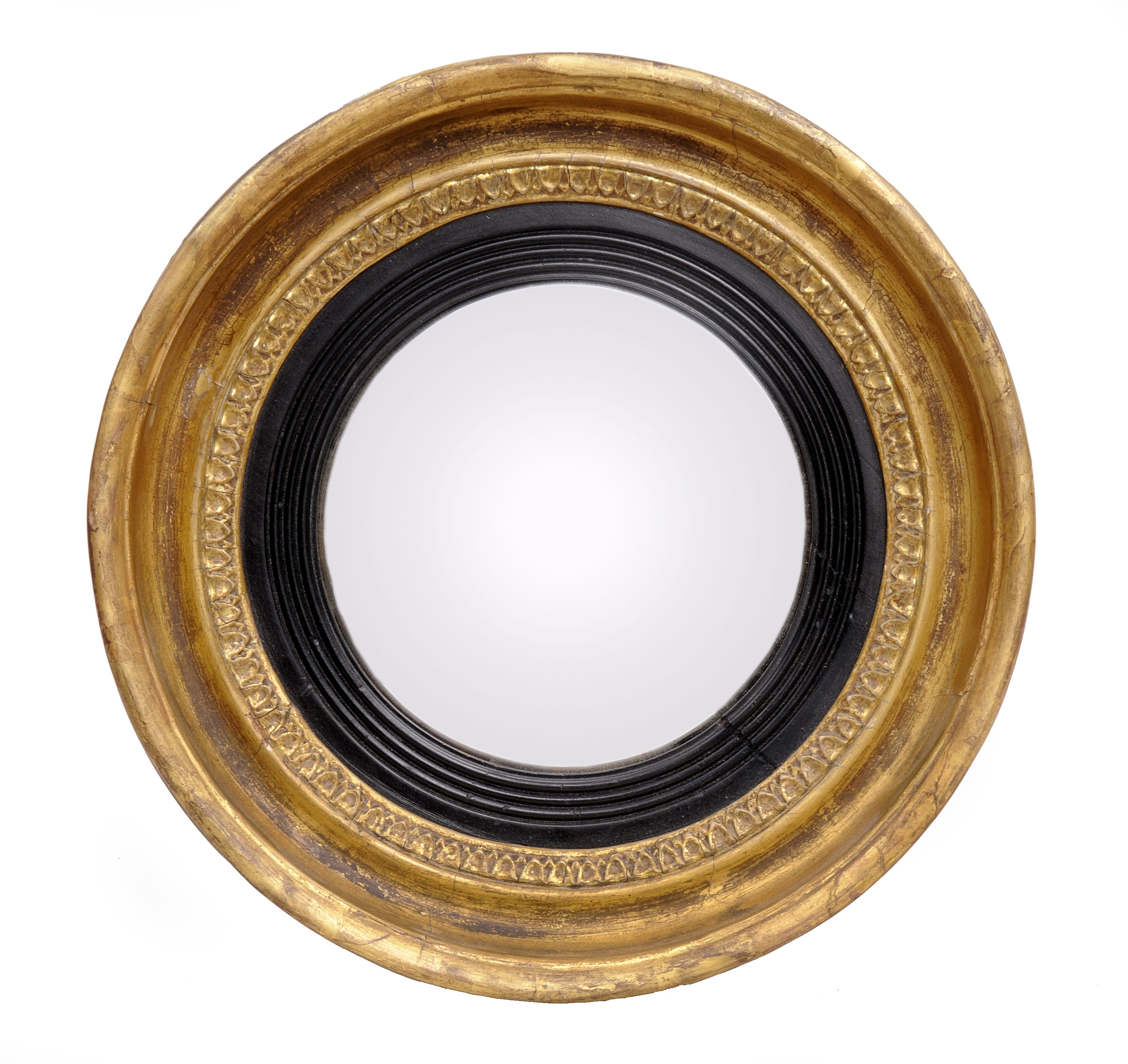 English Regency Convex Mirror Small Antique Mirror Throughout Small Convex Mirrors (Image 4 of 15)