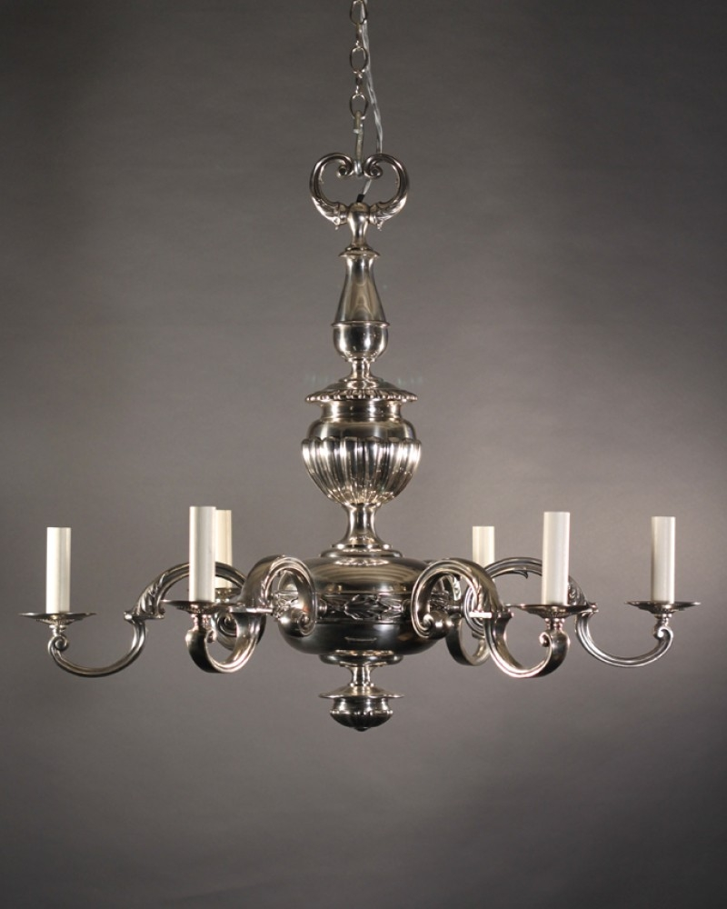 Englishedwardianchandelierinsilverplate With Edwardian Chandelier (Image 13 of 15)