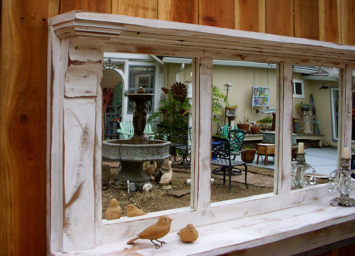 Featured Image of Shabby Chic Mirror With Shelf