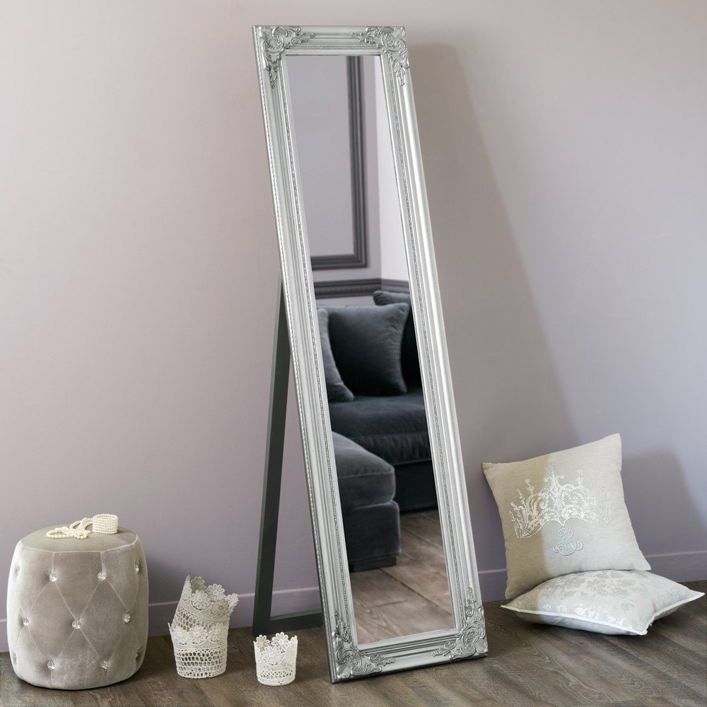 Enzo Silver Cheval Mirror H 164 Cm Maisons Du Monde With Regard To Silver Cheval Mirror (Image 8 of 15)