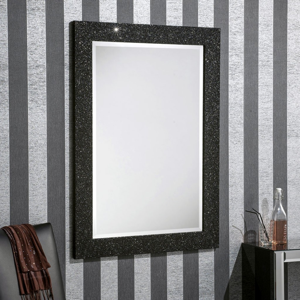 Epping Black Glitter Buy A Mirror Uk Regarding Buy A Mirror (Image 12 of 15)