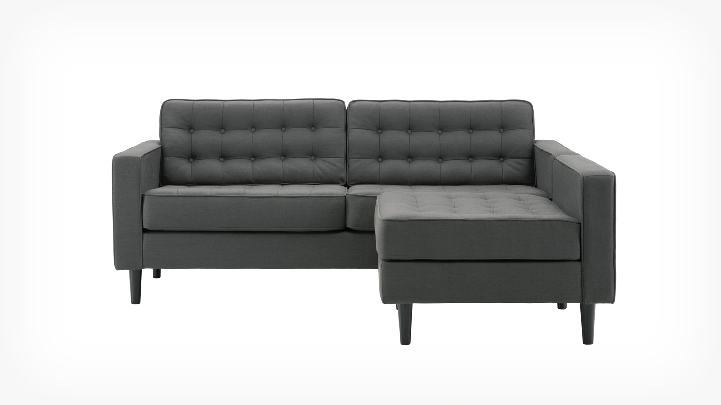 Eq3 Reverie Apartment 2 Piece Sectional Sofa With Chaise Fabric Inside Apartment Sofa Sectional (Image 11 of 15)