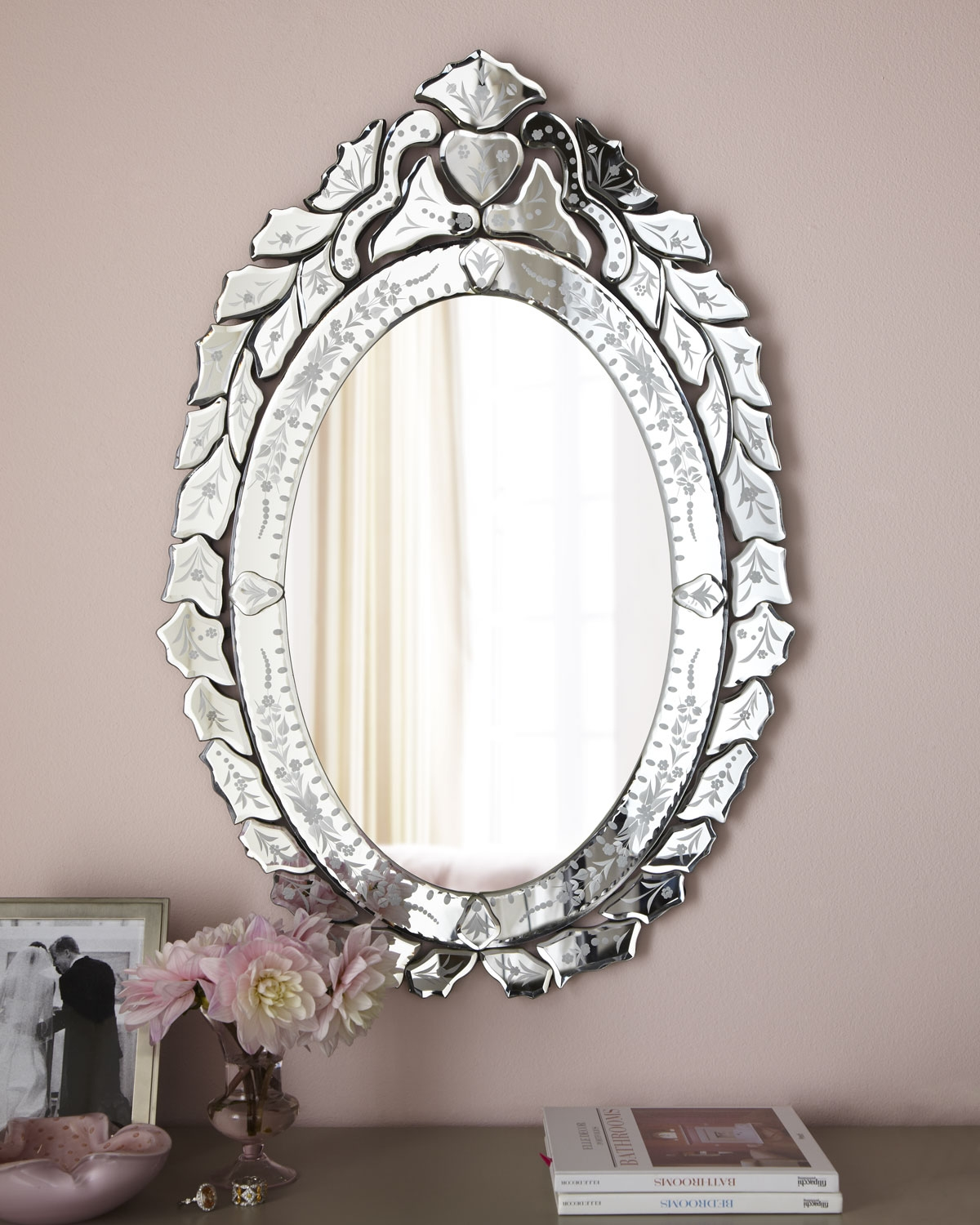 Ernhart Oval Venetian Style Mirror Wood Composite Etchings And In Venetian Style Mirrors Cheap (Image 9 of 15)