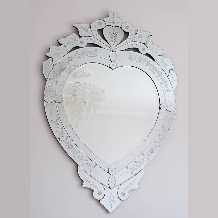Espelho Veneziano Decorativo Retro Oval Everest Magazine Elo7 With Regard To Heart Venetian Mirror (Image 6 of 15)