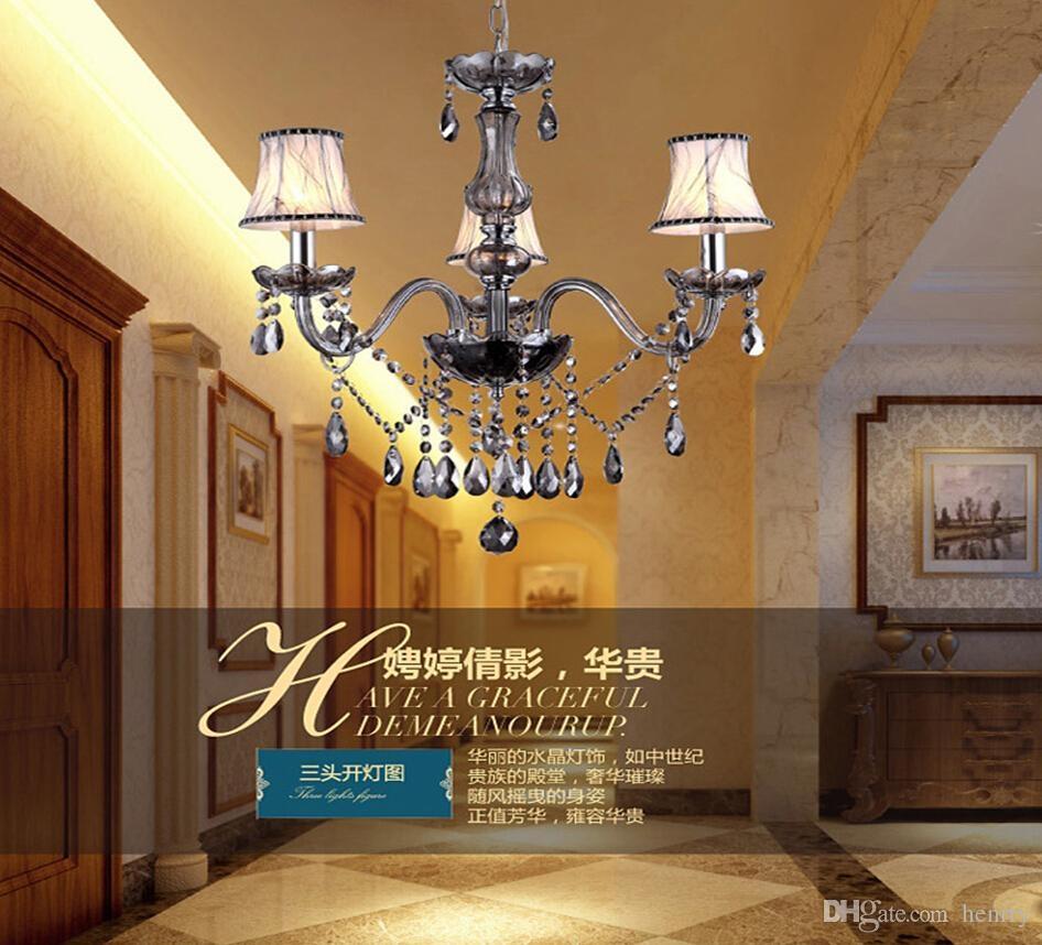 European Luxury Candle Chandelier Restaurant Bedroom Vintage Within Restaurant Chandeliers (View 13 of 15)