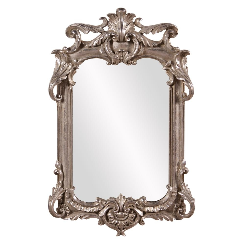 Eva Rectangular Antique Silver Leaf Framed Mirror 52019 The Home Pertaining To Rectangular Silver Mirror (Image 4 of 15)