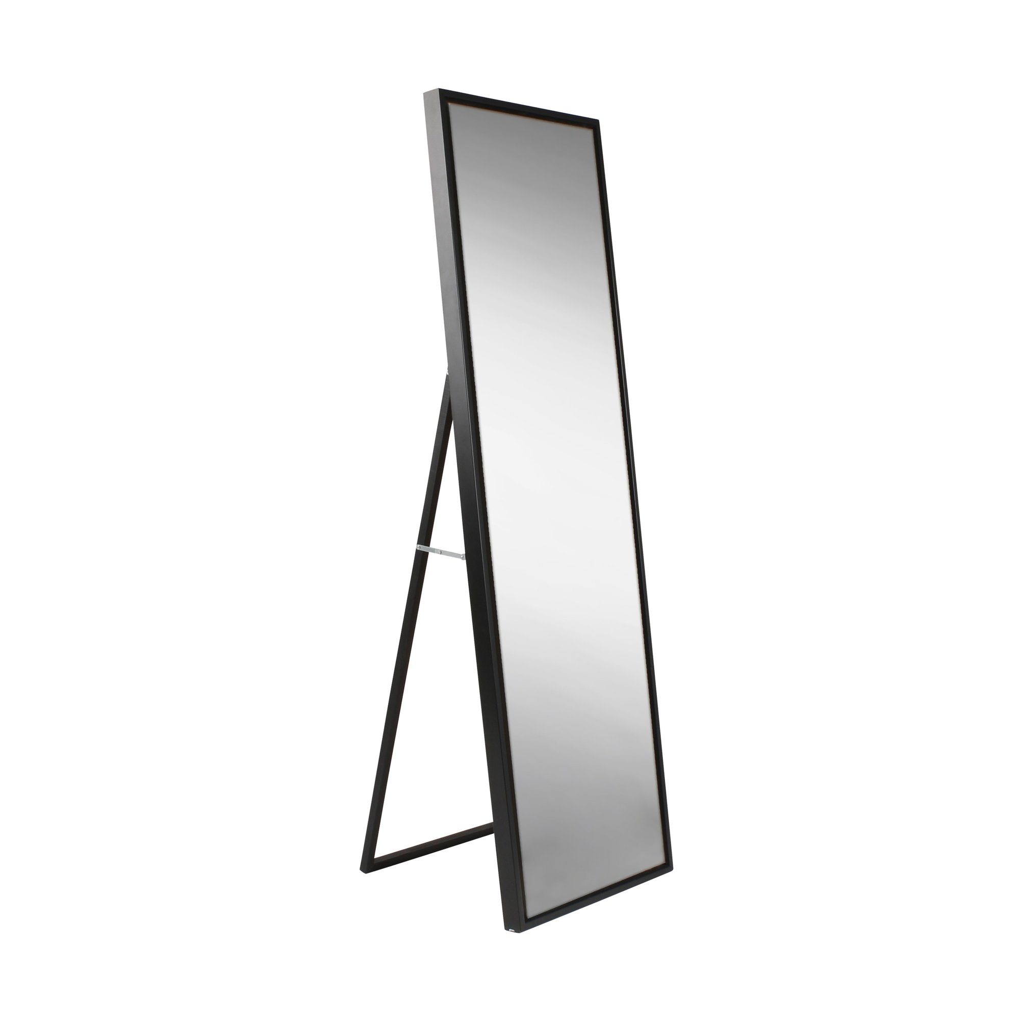 Evans Wood Framed Free Standing Mirror Reviews Allmodern With Free Standing Black Mirror (Image 7 of 15)