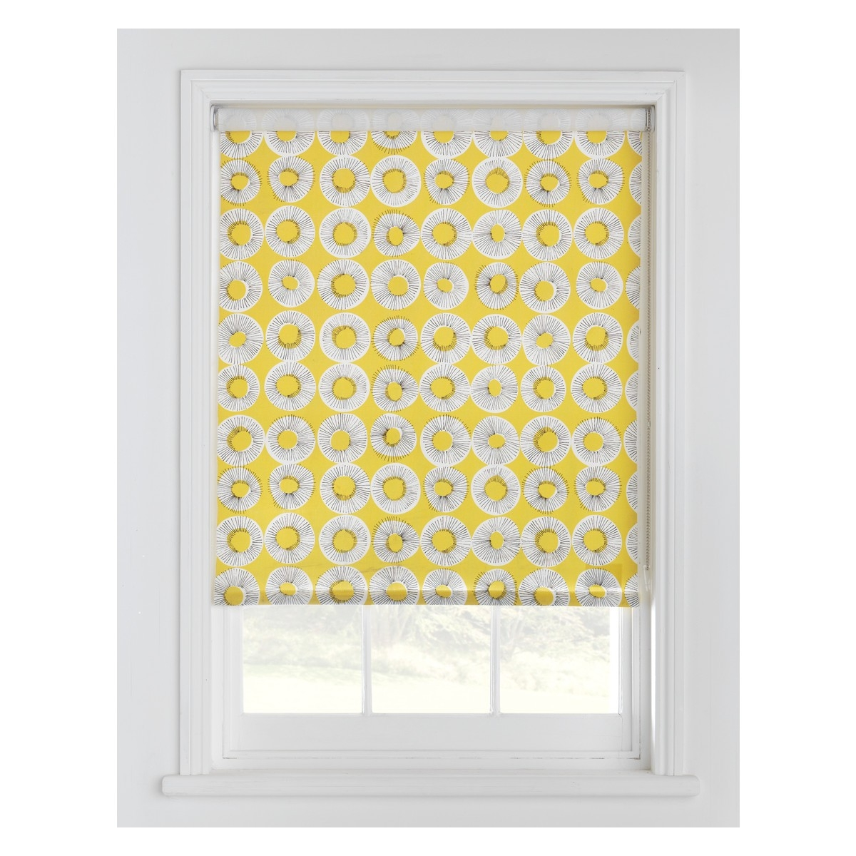 Evelyn Yellow Patterned Roller Blind 122 X 160cm Buy Now At In Yellow Roman Blinds (View 3 of 15)