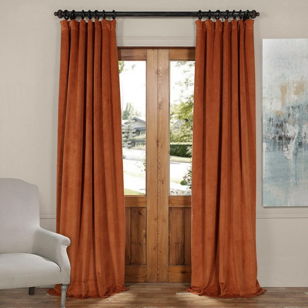 Exclusive Fabrics And Furnishings Signature Rusty Gate Orange For Orange Velvet Curtains (View 11 of 15)