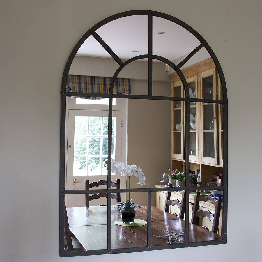 Exterior Cool Arched Mirror Design Ideas With Rustic Arched With Large Arched Window Mirror (Image 7 of 15)